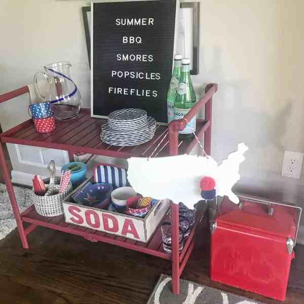 Patriotic Bar Cart Style
