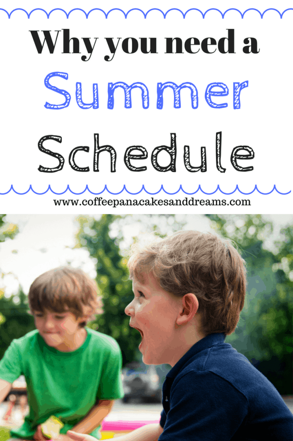 Easy summer schedule for your family #kids #summer #motherhood