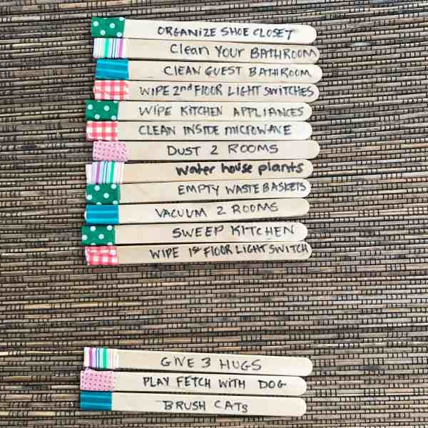 Popsicle Stick Chores #chores #kids #chorecharts