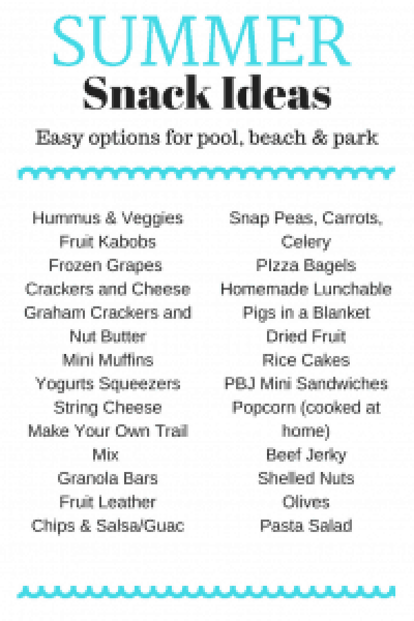 Pool Friendly Summer Snack Ideas #summer #kidfriendly #snackideas