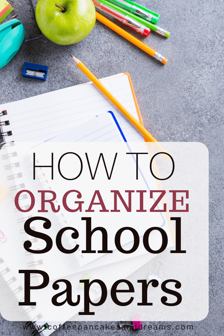 Easy Ideas for managing the school paperwork clutter #endofschoolyear #kids #organization #paperwork #decluttering