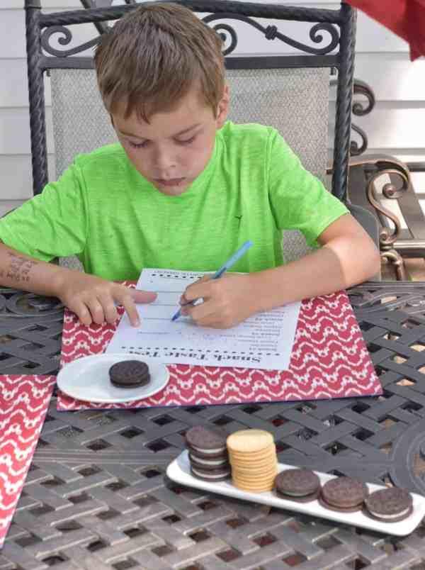 Cookie Taste Testing Fun with a FREE Downloadable Ballot #kidsactivities #summerfun #ideas