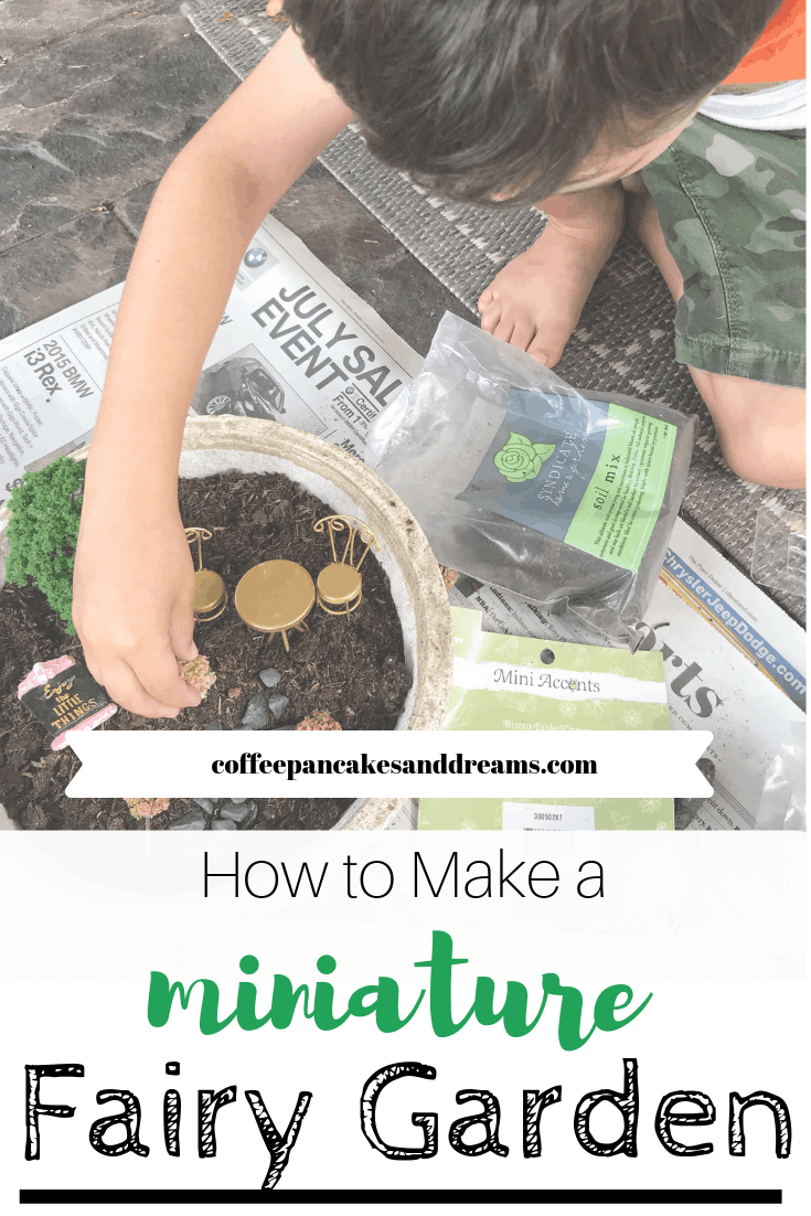 MIni Fairy Garden in a Pot #diy #inspiration #forkids