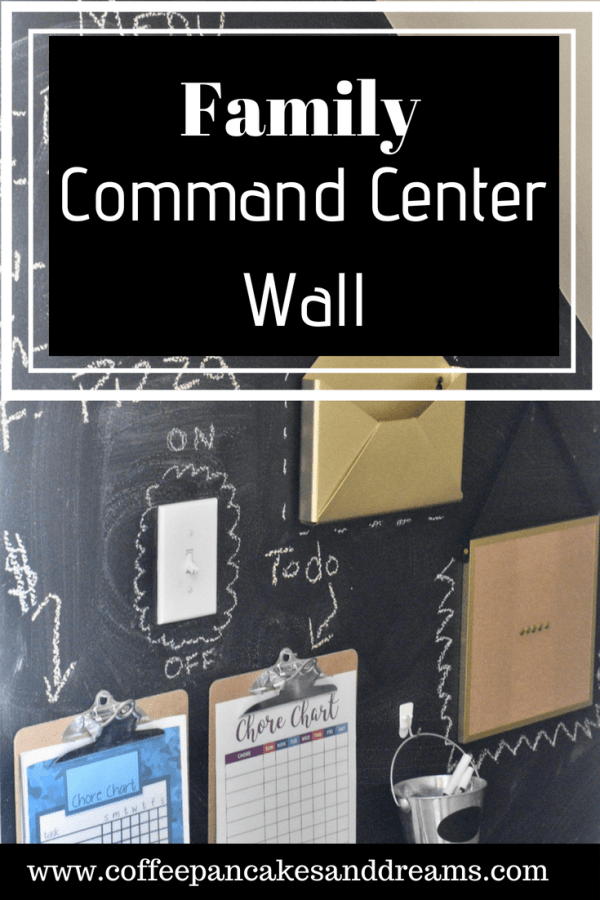 How to Create a Chalkboard Command Center Wall #organization #family #kids #tips #diy