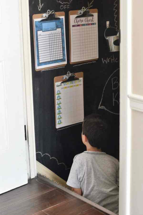 Chore Chart Printables #kids #clipboard #family