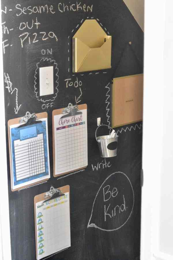 How to Create a Family Command Center Wall #chalkboard #organization #chores #ideas