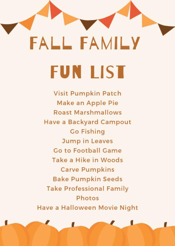 Fall Activities for Families #fallbucketlist #familyfriendly #fun