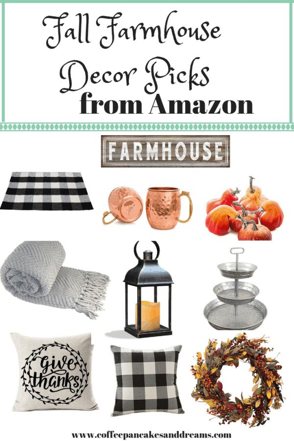 Inexpensive Fall Farmhouse Finds on Amazon #fixerupper #farmhousedecor #falldecor