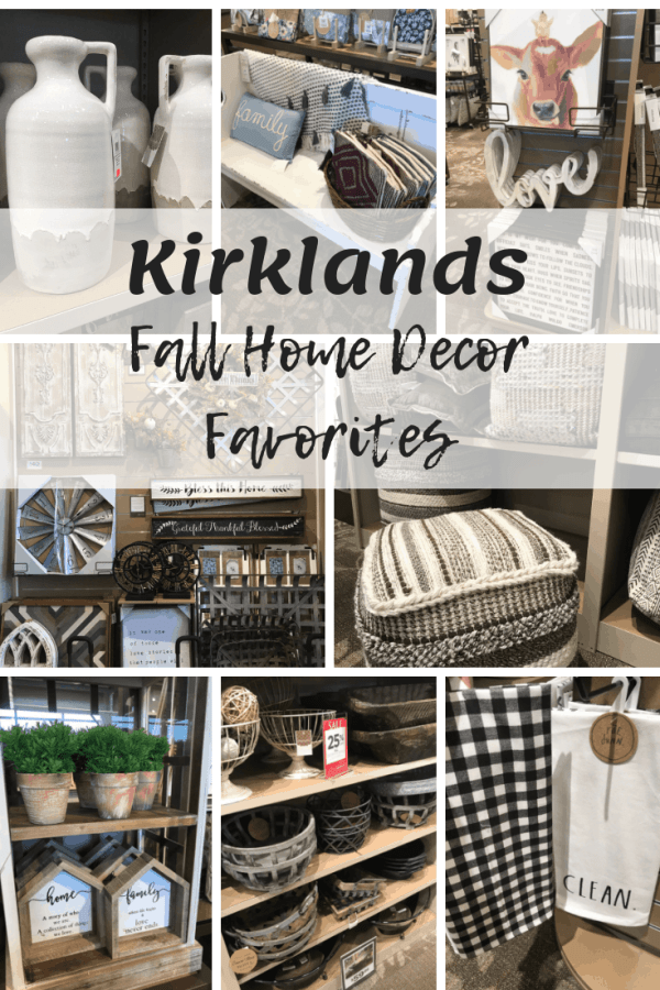 Farmhouse Home Decor Finds at Kirklands #falldecor #farmhousestyle #kirklands