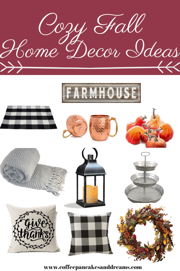 Inexpensive fall decorating ideas from Amazon #farmhouse #buffalocheck #rustic