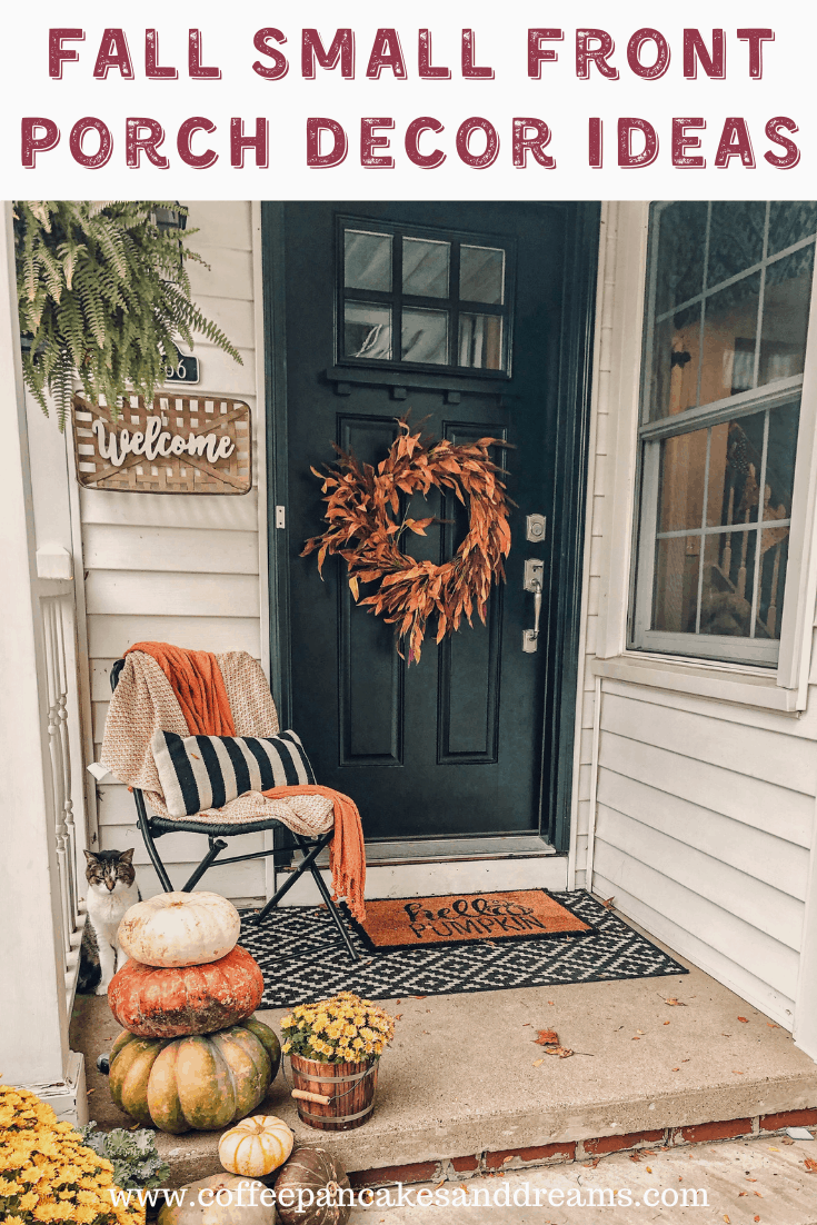 Small Fall Front Porch Decor Ideas #autumn #outdoor #frontdoor