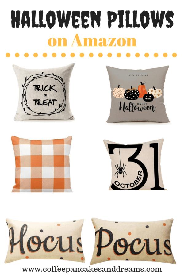 Farmhouse Halloween Pillows #inexpensive #ideas #decor