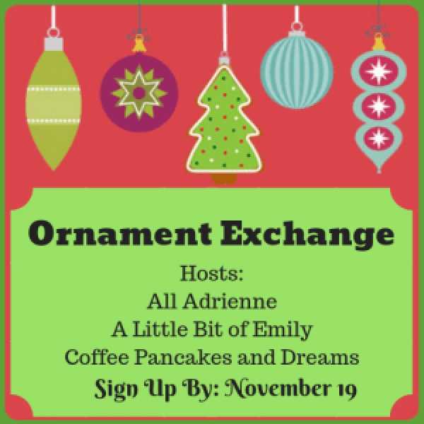 Christmas Ornament Exchange #linkup #bloggers #christmasgifts