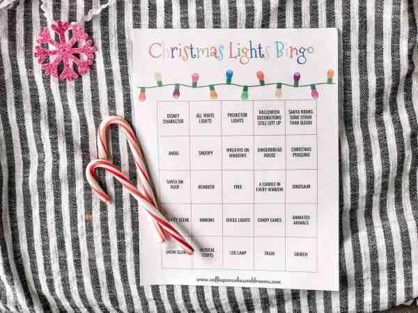 Christmas Lights Printable Bingo Game #PDF #download #free