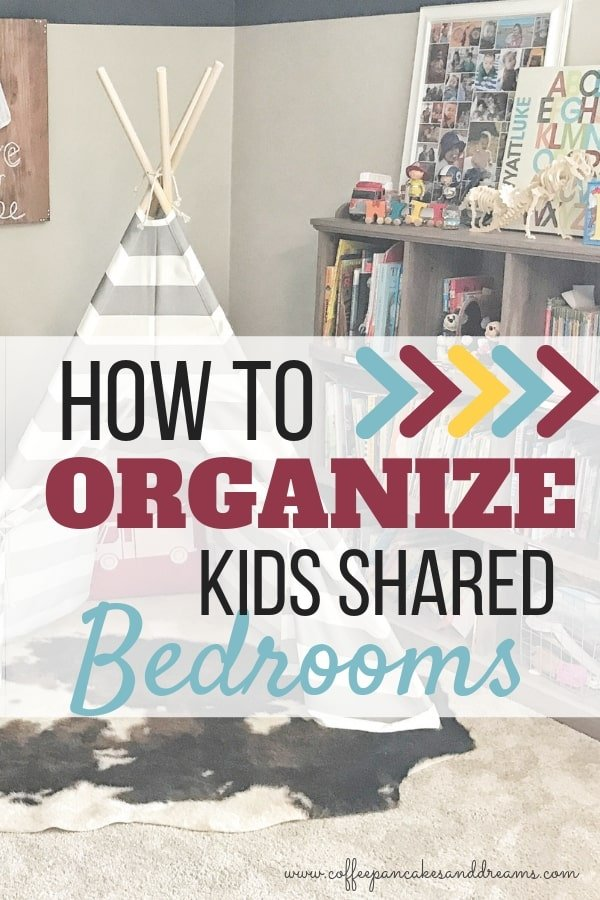 Kids Shared Bedroom Organization #kidsroom #roomdecor #siblings #boys