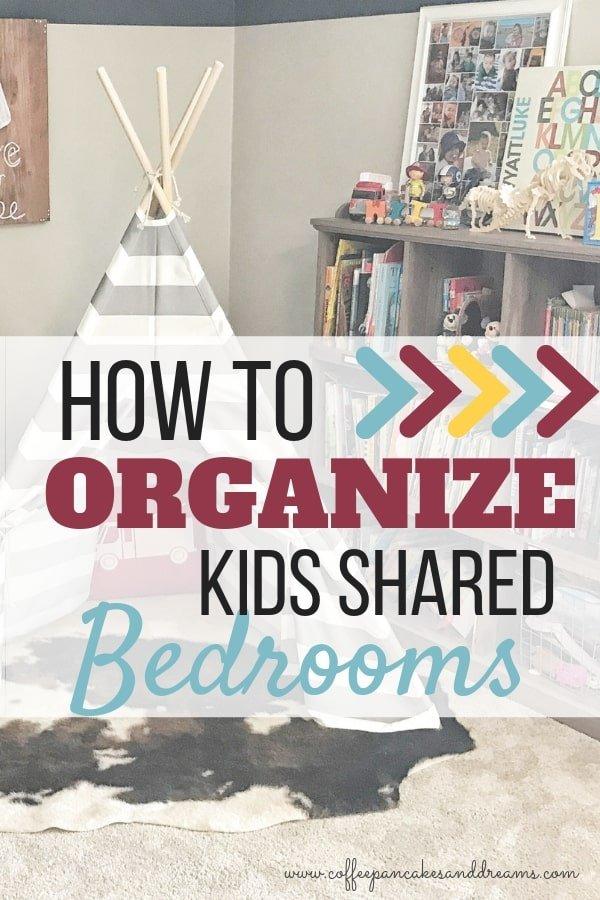 Ideas for organizing a shared bedroom #kidsroom #roomdecor #organization #boys