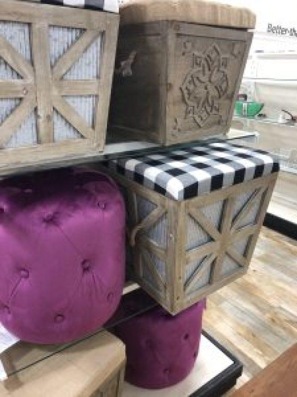 Farmhouse Style Ottomans #farmhouselook #stools #poufs