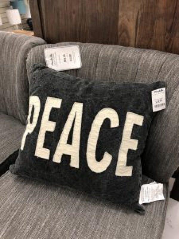 Peace Pillow #winterdecor #farmhousedecor #peacesigndecor
