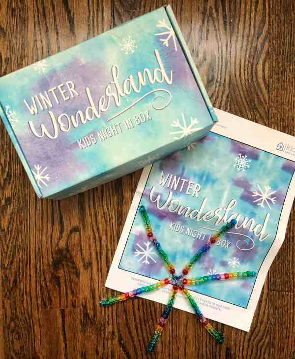 Kids Night In Box Winter Review #affliliate #kidsactivities #subscriptionbox