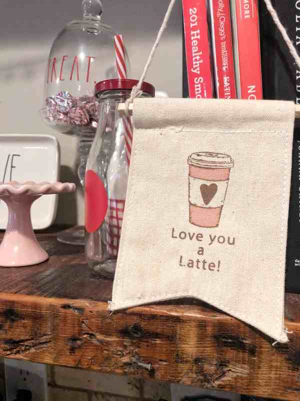Valentine's Day Decor #farmhouse #signs #coffeebar
