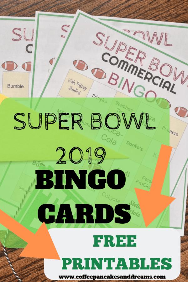 Super Bowl 2019 Bingo Cards Free Printable Set #superbowl #superbowlparty #bingocards