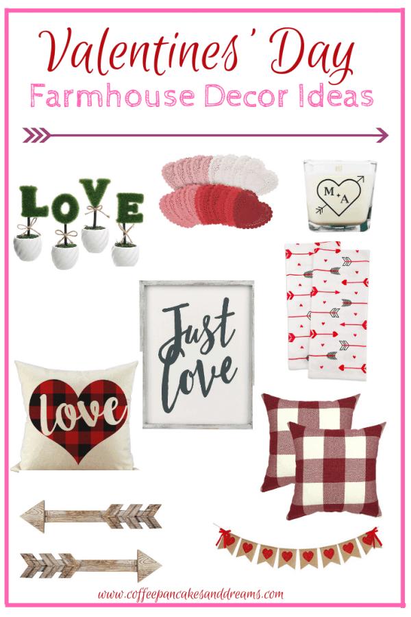 Farmhouse Chic Valentine's Day Decor Finds #inexpensive #farmhouse #fixerupper #inexpensive