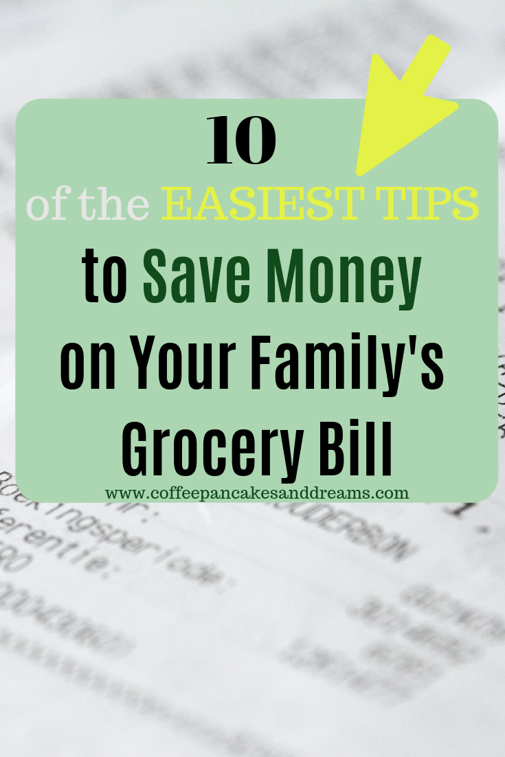 Easy Tips to save money on groceries for your family #budget #grocerybill #families #simple