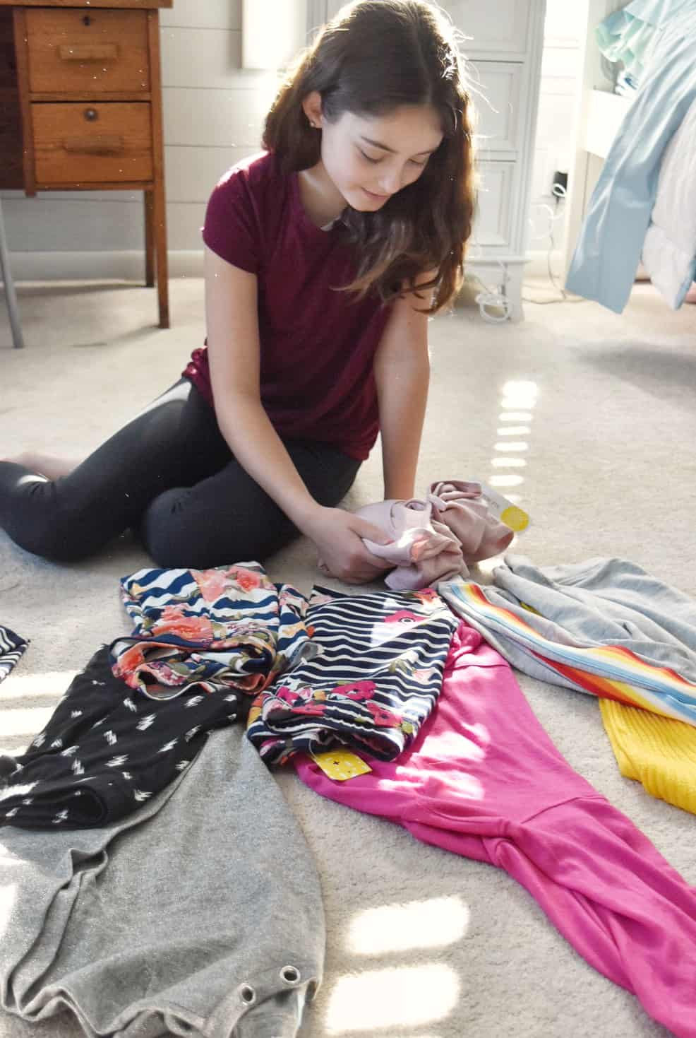 Stitch Fix Box for Tweens #kidstyle #tweenstyle #girls #tops