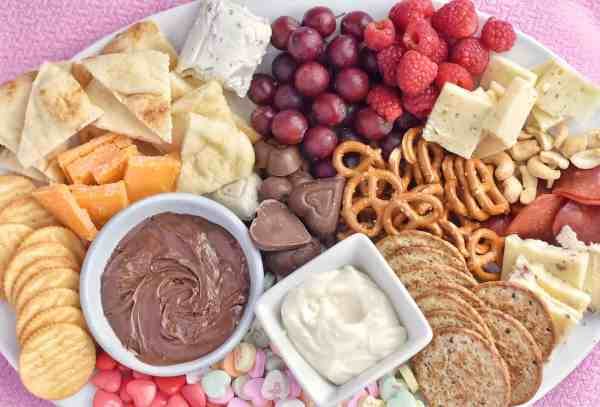 how to create a Valentine's Day cheese board #charcuterie #easy #sweet