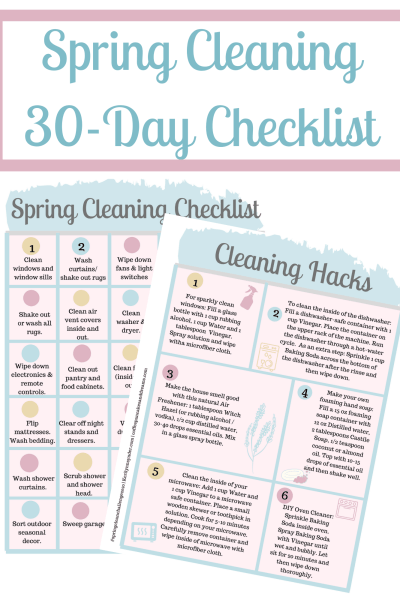30 Day Spring Cleaning Checklist Printable