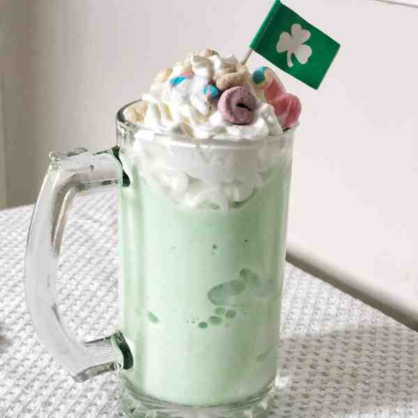 Lucky Charms Milkshake Recipe for St. Patrick's Day