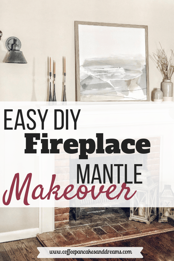 Inexpensive Fireplace Mantle Makeover #farmhouse #rustic #modern #decorideas #brick #white