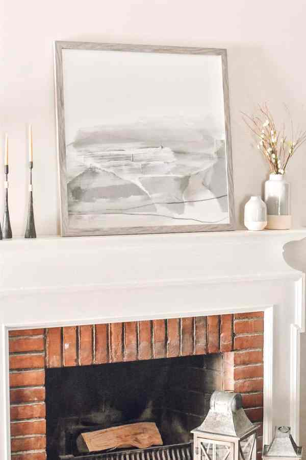 Fireplace Mantle Decor Ideas #rustic #farmhouse #modern