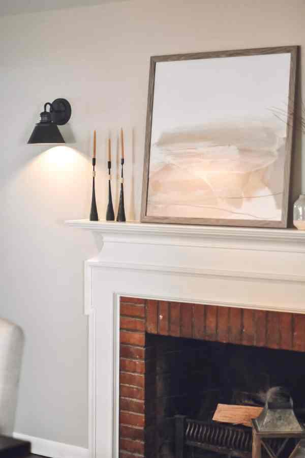 Fireplace Mantle Decor Ideas #farmhouse #modern #rustic #neutral