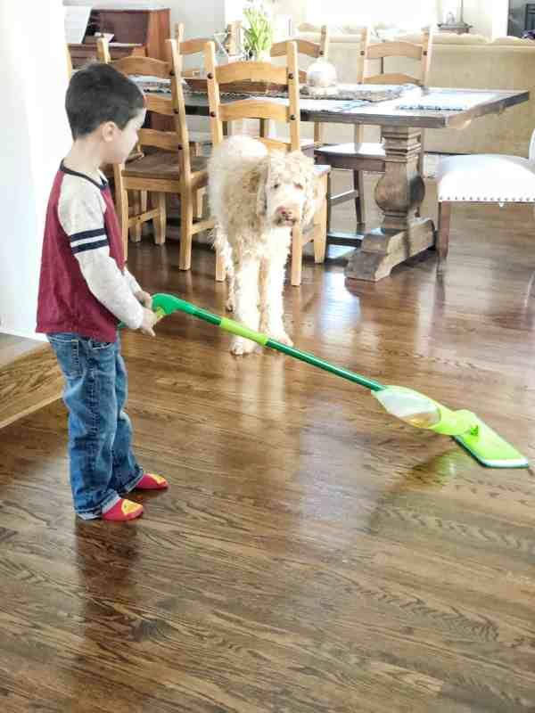 how to clean hardwood floor #ad #hardwoodfloor #easy #mop #springcleaning