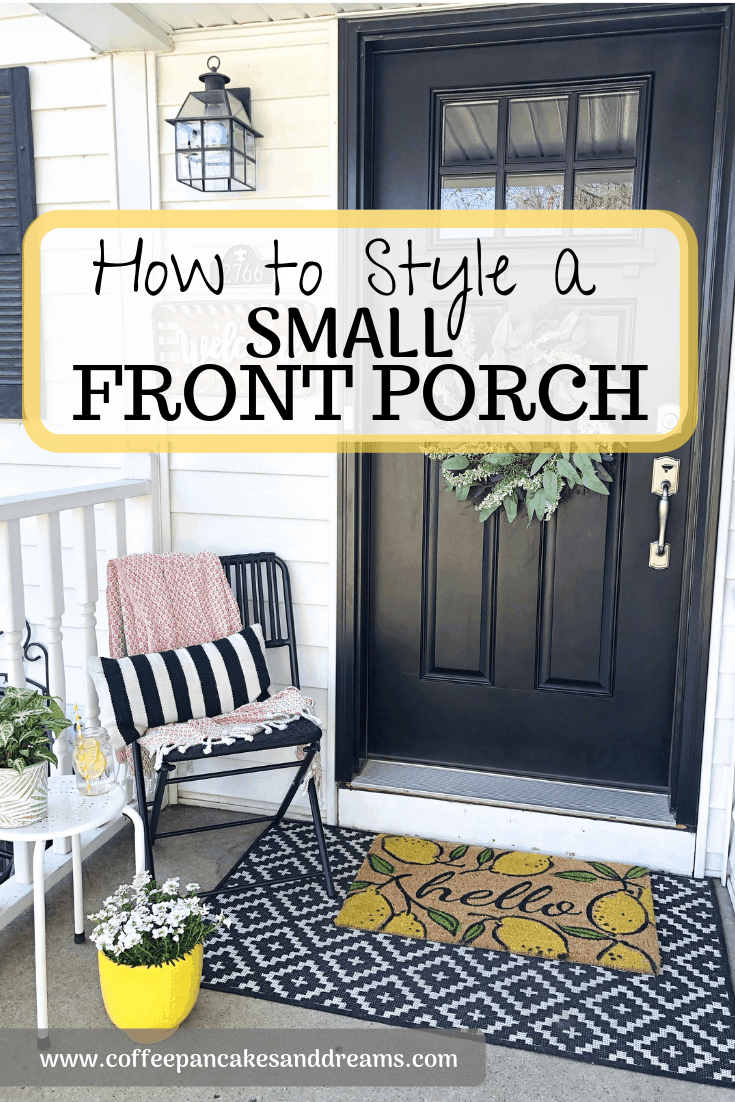 Decorating a small entryway #frontstoop #frontporch #diy #inexpensive