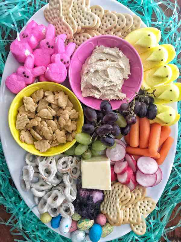 Easter themed charcuterie board #makeahead #easterrecipe #easy #quickappetizer