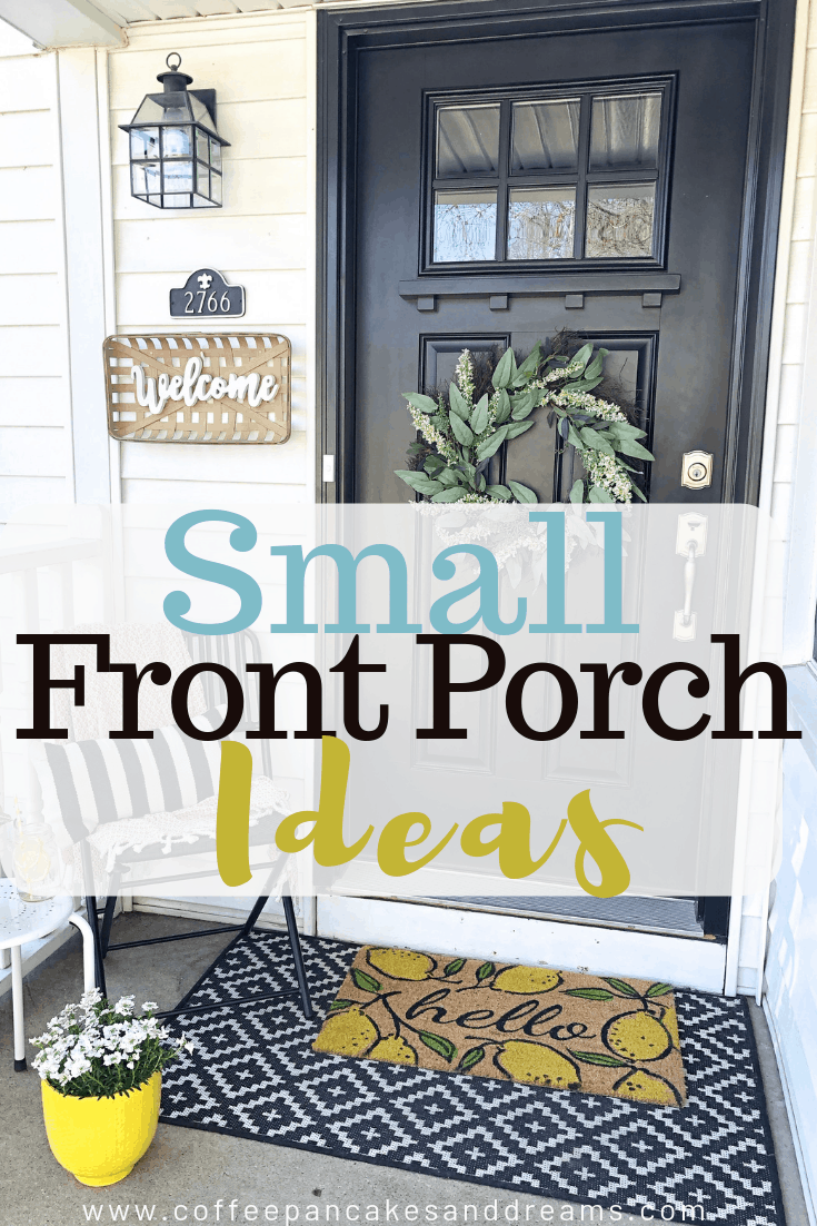 Small front porch decor ideas #frontdoor #farmhouse #lemons #doormats