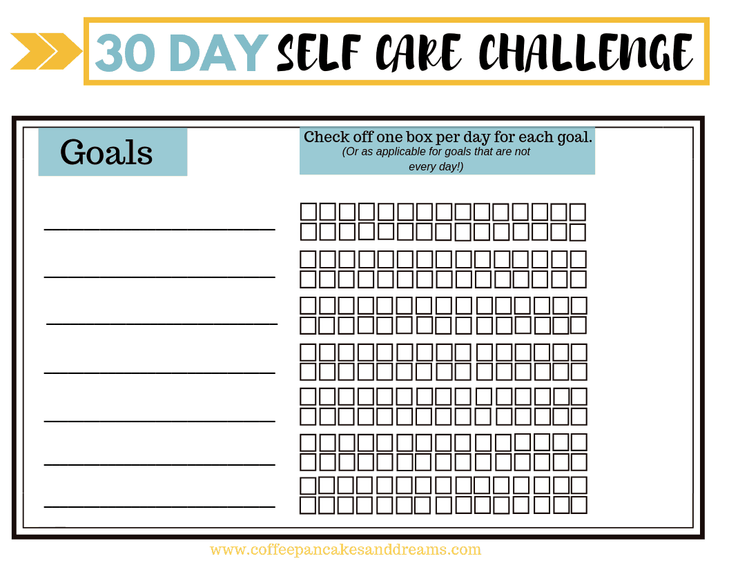 Self Care Daily Habit Worksheet #freeprintable #selfcaretips #dailyroutine