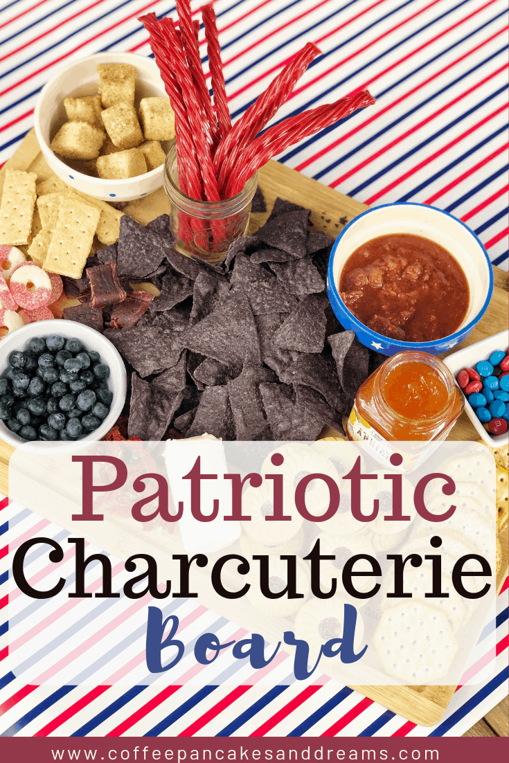 4th of July charcuterie board #appetizer #july4th #redwhiteblue #party