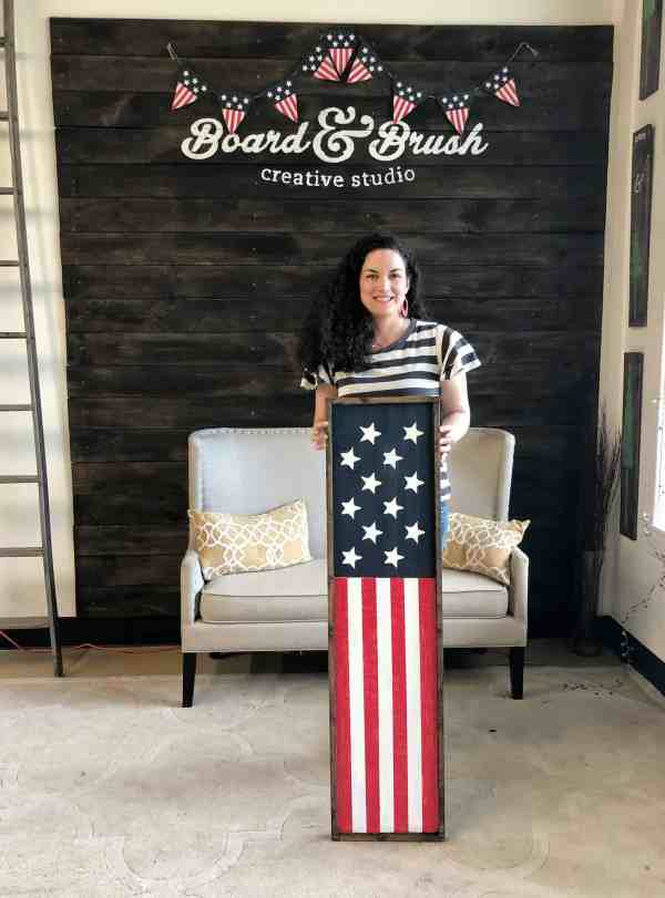 Make your own wood flag sign for your porch #4thofjuly #patriotic #memorialday #starsandstripes #farmhousedecor #diy