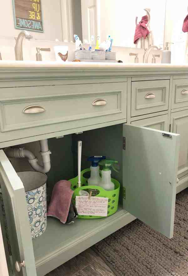 How to teach kids to clean with cleaning caddies #momtips #chores #kids #parentingideas #funchoreideas