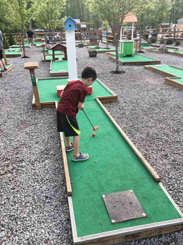 putt putt golf at jellystone park