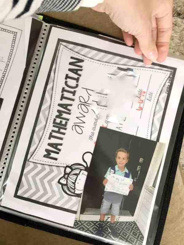 how to make a school memory portfolio #organization #kids #schoolpapers
