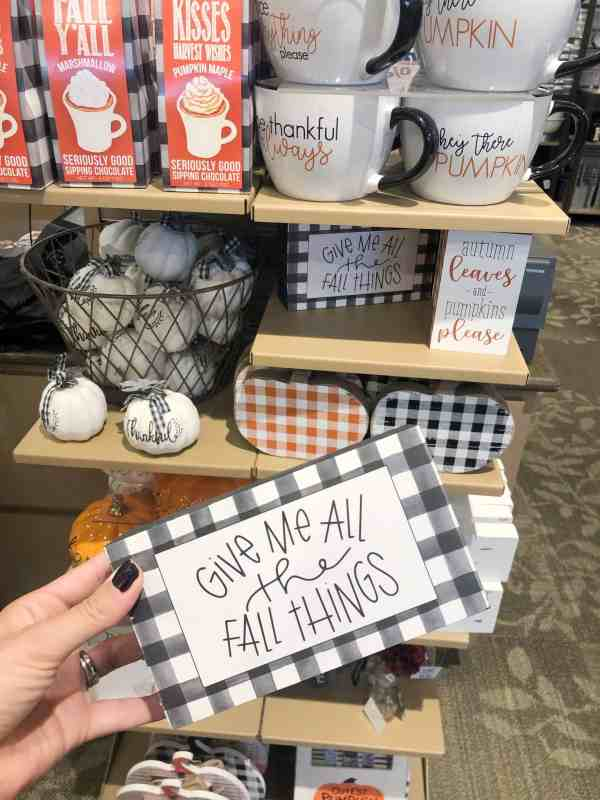 Buffalo Check Fall Decor #kirklands #farmhouse