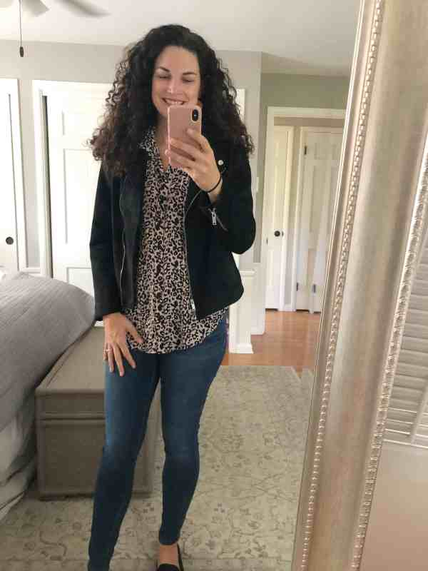 Stitch Fix Fall 2019 review #blouses #leopard #tops