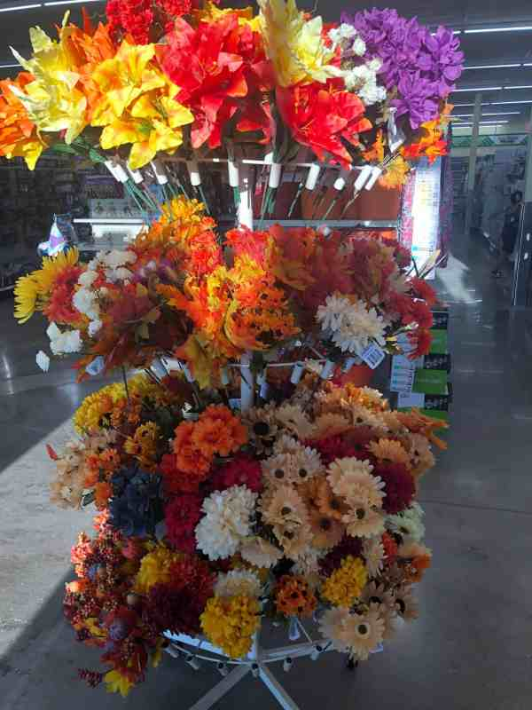 fall decor at the dollar store