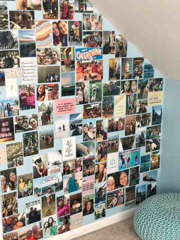 how to create a photo wall #photodisplays #creative #photoorganization