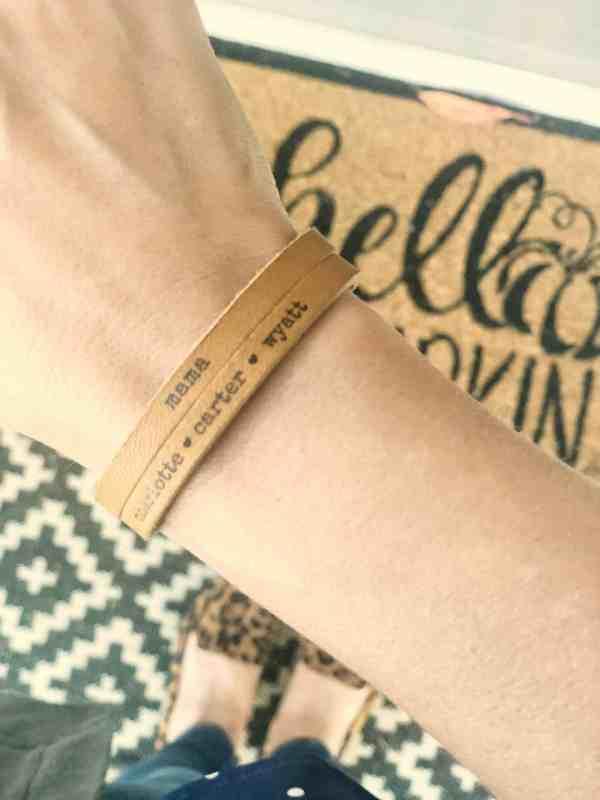 Personalized leather bracelets #mothersday #giftideas #moms