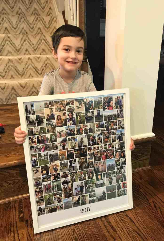 Creative photo display ideas #collage #familyphotos #digitalphotos